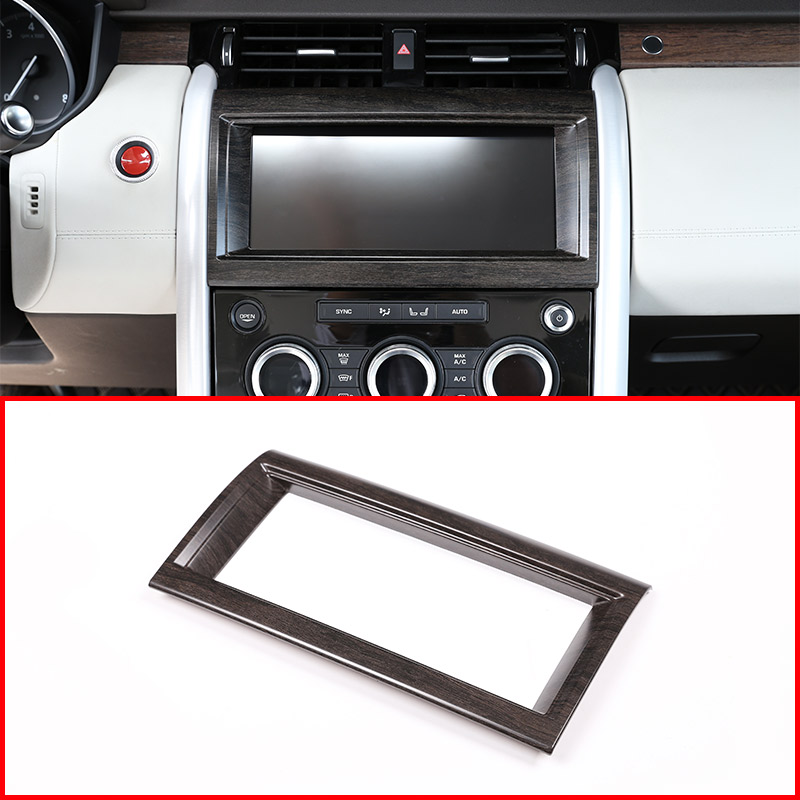 Oak Wood Colour For Land rover Discovery 5 LR5 L462 2017 2018 ABS Interior Navigation box