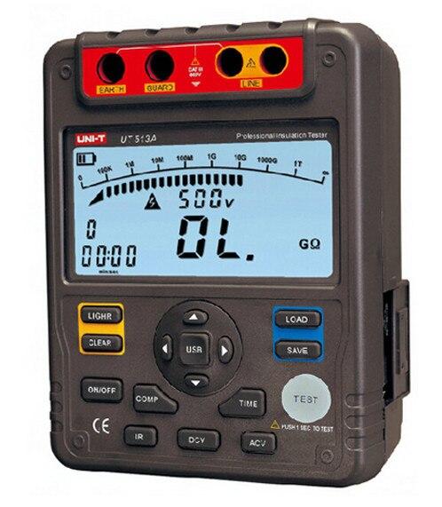 Resistência de Isolamento Uni-t Medidor Digital Terra Tester 5000 v 1000 Mohm Interface Usb Ut513a