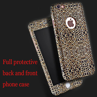 Sexy Leopard Print Little Flowers Stars Back And Front Full Protective Case For Iphone 6plus 6splus