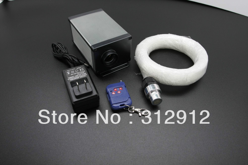 Led fiber optique kits, standard 6 couleurs, 12 V, lumière moteur (LLE-003); 250*0.75mm 3 m long PMMA fiber optique