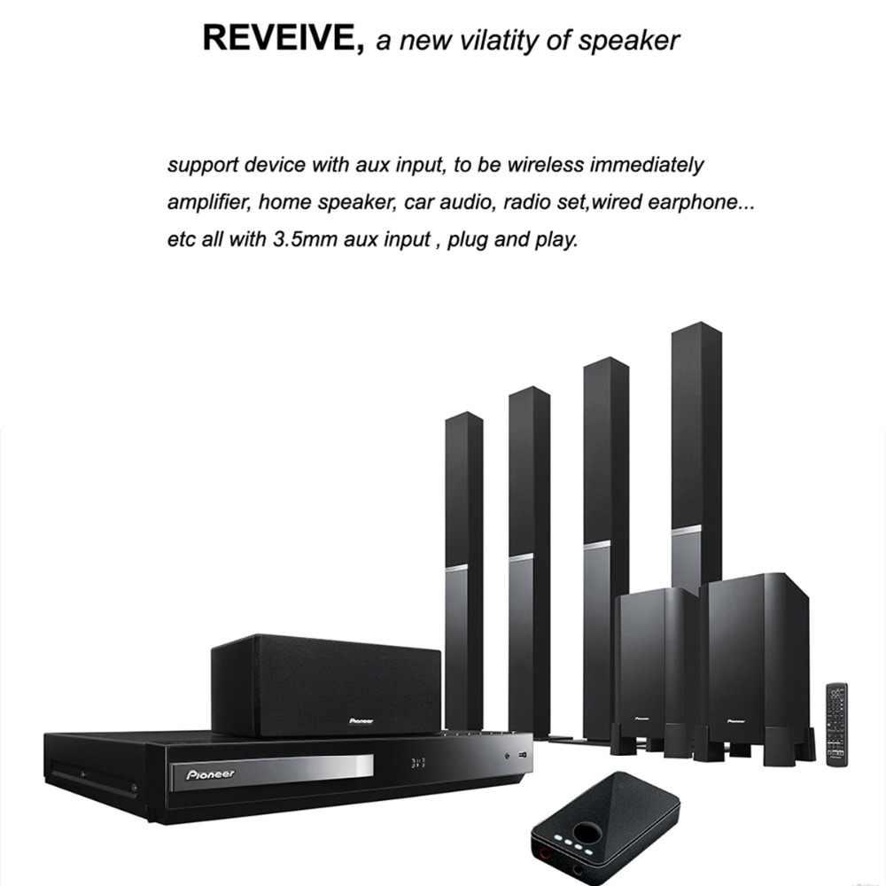 SOONHUA 2-In-1 odbiornik Bluetooth nadajnik 3.5mm Jack bezprzewodowy adapter audio dla TV domowego zestawu Stereo głośnik samochodowy słuchawki