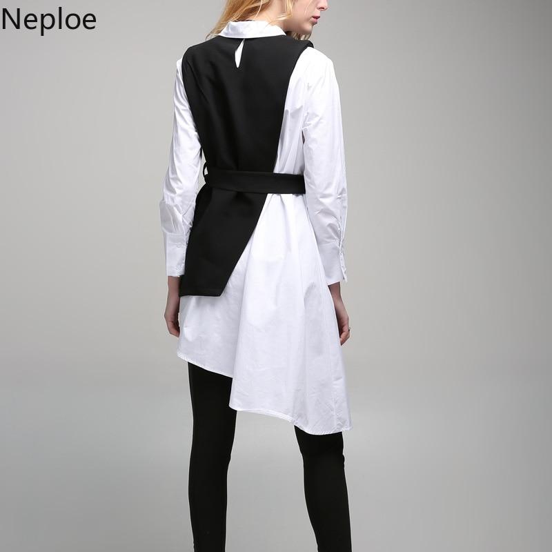 Ensemble Gilet Irrégulière Neploe Chemise Chic Longue Deux Rue Mode Costume Pièces Modis Suit Printemps 42754 Automne Ceintures Haute Preppy 2019 Style tg040wq