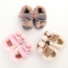 Fashion Winter Kids Children Shoes Keep Warm Fur Baby Boys Girls Shoes Boots Soft Soled Anti Slip Newborn Super Warm Prewalker