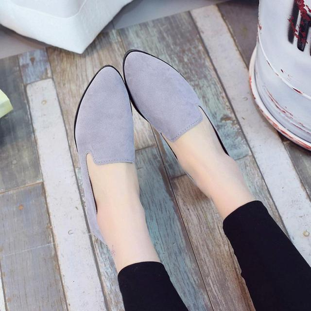 2019 Spring Women Loafers Flats Shoe Women Casual Shoes Suede Slip on Boat shoes Female Shoe Comfortable Ballet Flats Size 35-40 3