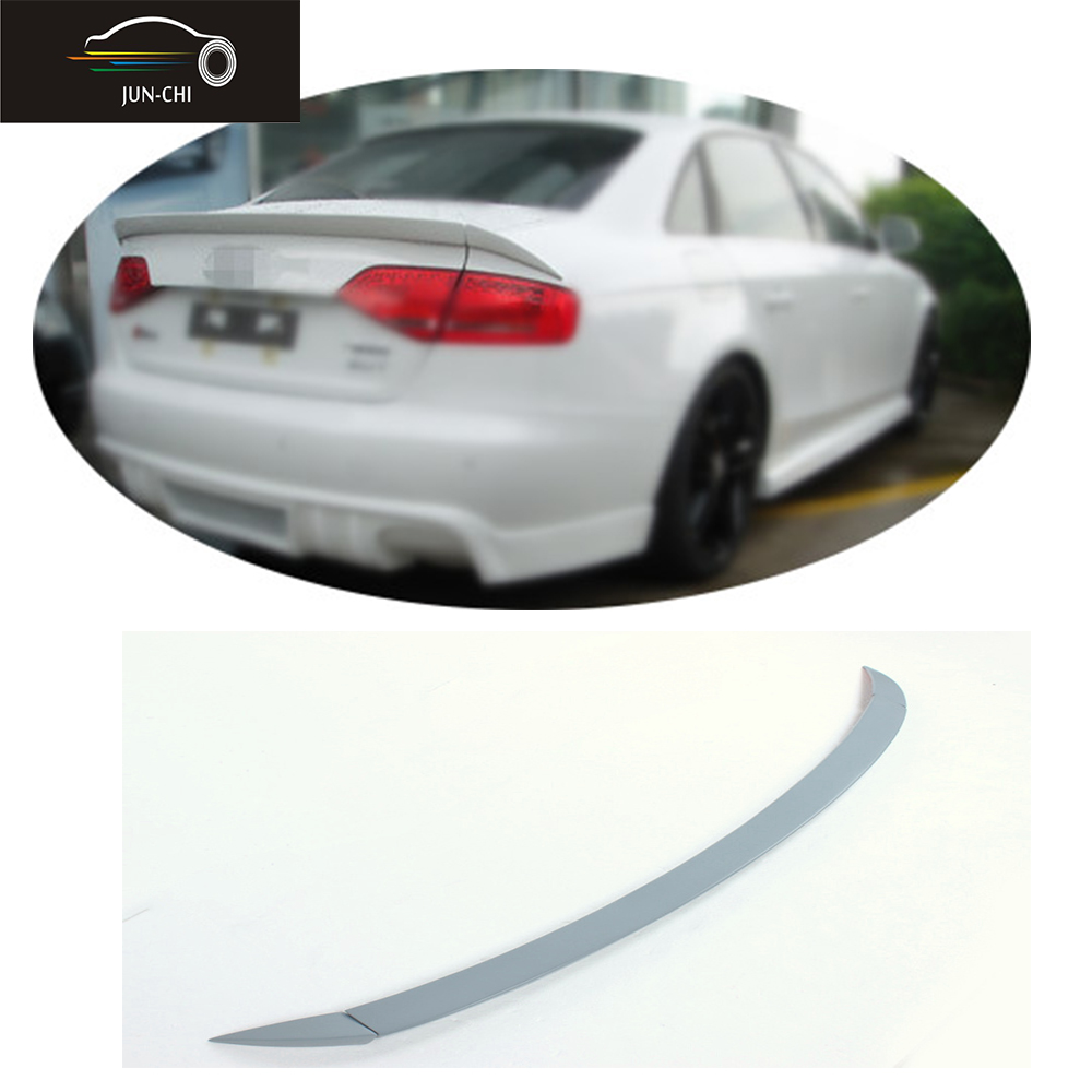 PU Unpainted rear trunk lip wing spoiler for Audi A4 B8 2009 2010 2011 2012 ABT style grey primer unpainted rear roof lip spoiler wing for bmw e87 e81 2004 2011