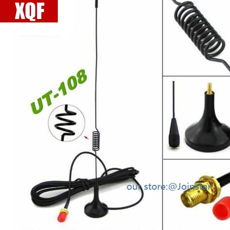 XQF Na Double bande UT-108 SMA Femelle mobile antenne pour baofeng UV-5R 888 S deux way radio radio VHF UHF