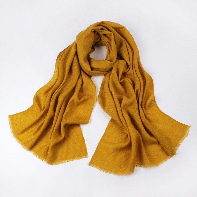 2016 High quality female folded twill Lines cosy pure wool scarf winter shawl wraps for women candy color oversized 200*75cm