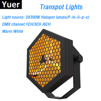 1Pcs DMX Transport Lights Super Bright 3X300W Halogen Lamp Stage Dj Wash Effect Lights With DMX512 Control For XMAS Decorations
