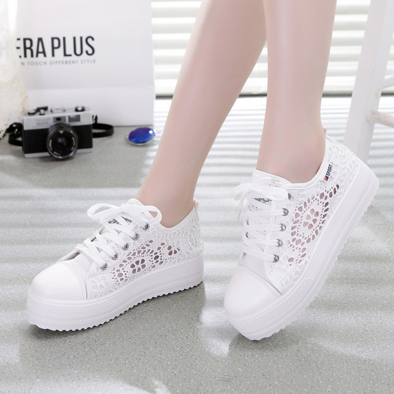 Sneakers Women Fashion Breathable Platform Shoe Casual Female Footwear Leisure Ladies White Shoes Women's Vulcanize Shoes CLD902 de la chance women vulcanize shoes platform breathable canvas shoes woman wedge sneakers casual fashion candy color students
