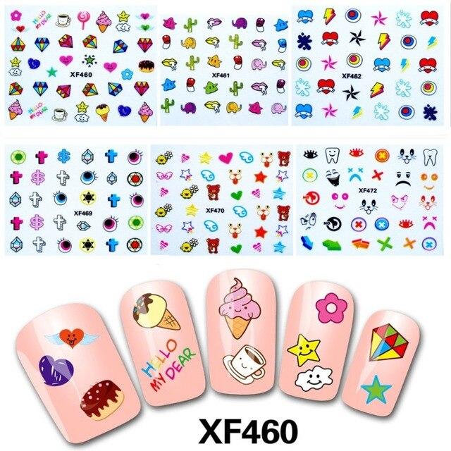 3D Nail Art Stickers Decal Beauty Super Cute Japanese Cartoon Design ...