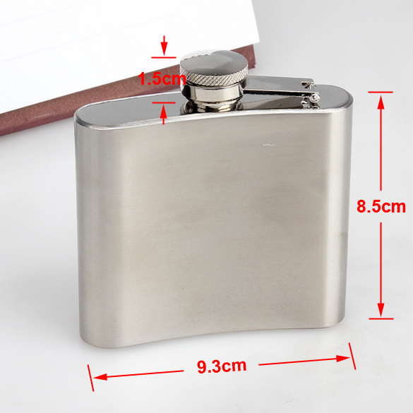 5oz Hip Flask Screw Cap Funnel Cap Stainless Drink Liquor Whisky Alcohol Free Shipping