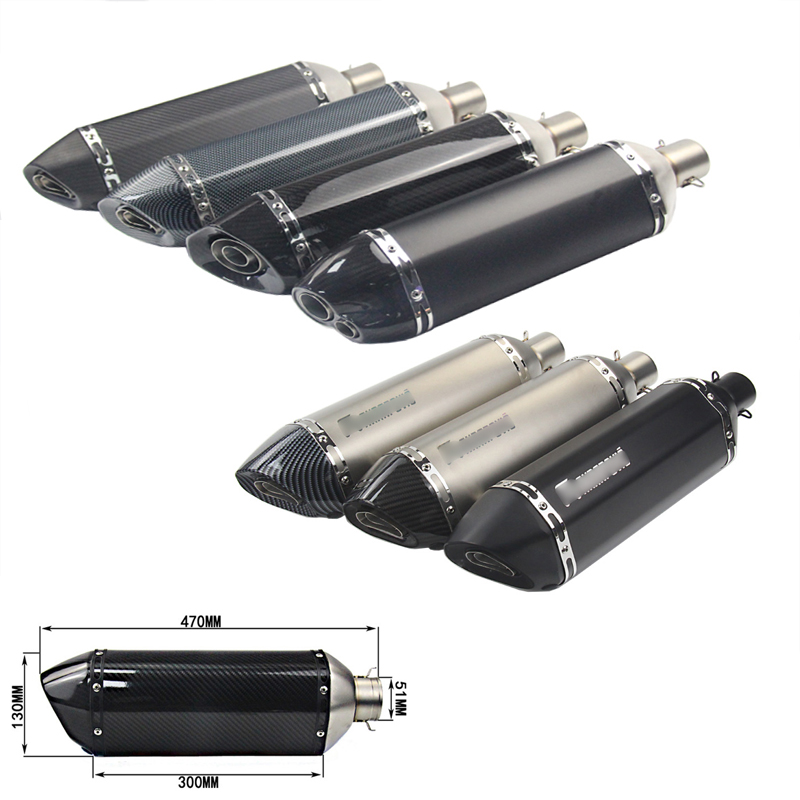 Motorcycle Exhaust Muffler Pipe With Removable DB Killer Modified 51mm Silencer System For Ninja Z250 350