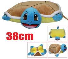 Hot Squirtle Figure Plush Doll Stuffed Toy 18″  Foldable Pillow Turtle Cushion Kids Soft Dolls 46*38cm