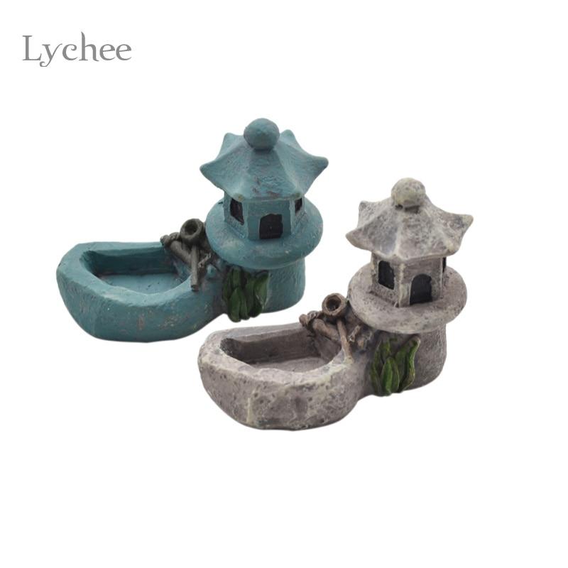 lichi zen jardn estanque torre torre accesorio fengshui miniaturas figuras de resina artesanal decoracin del hogar