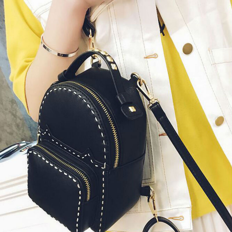 Spring New Collection Korean Style Female Backpack Thread College Style Simple Casual Backpack Fashionable Cute Travel