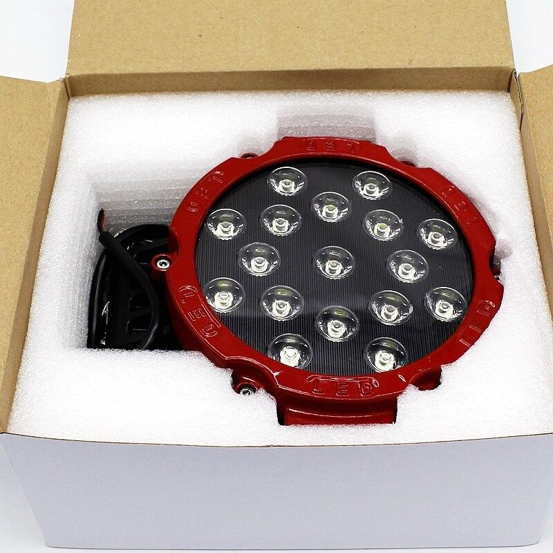 Yituancar 1X 51W 7 դյույմ կարմիր կլոր - Ավտոմեքենայի լույսեր - Լուսանկար 6