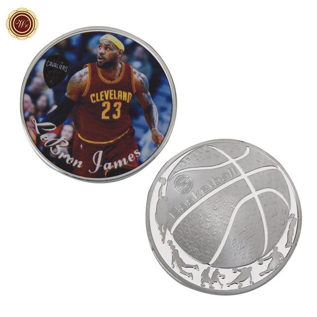 WR EUA Profissional Jogador de Basquete LeBron James 24 k Moeda de Prata  Casa Decorativa de e75c3dc66ad