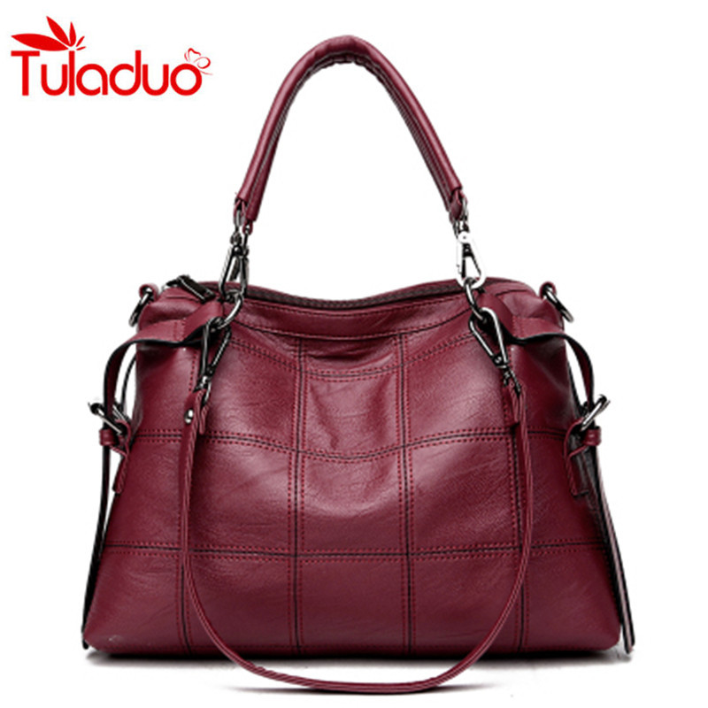 Tuladuo 2017 Fashion Thread PU Hobos Bag Women's Messenger Bag Femme Shoulder Bags Large Luxury Brand Ladies Handbags Sac A Main