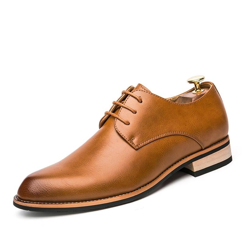 Oxford Bureau Bout Rond claret Appartements Robe Mode Taille Hommes brown Cuir Black La Plus Casual Confortable 44 En Chaussures 38 Formelles wY10nzPxW