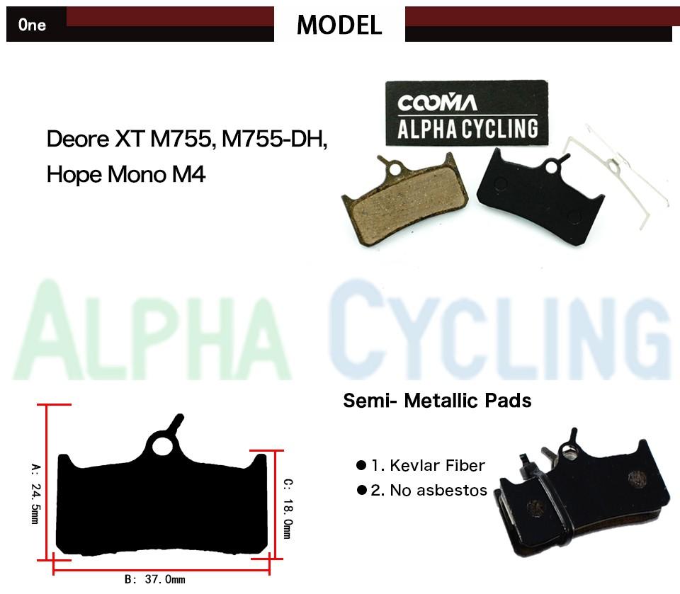 Brake Pads Bike Bicycle Downhill hope mono m4 brake pads bike