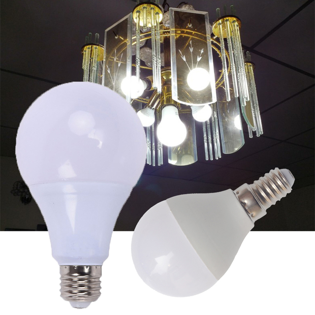 LED Bulb Lamps E27 E14 220V 110V Light Bulb Real Power3W 5W 7W 9W 12W 15W 18W High Brightness Lampada LED Bombilla Spotlight
