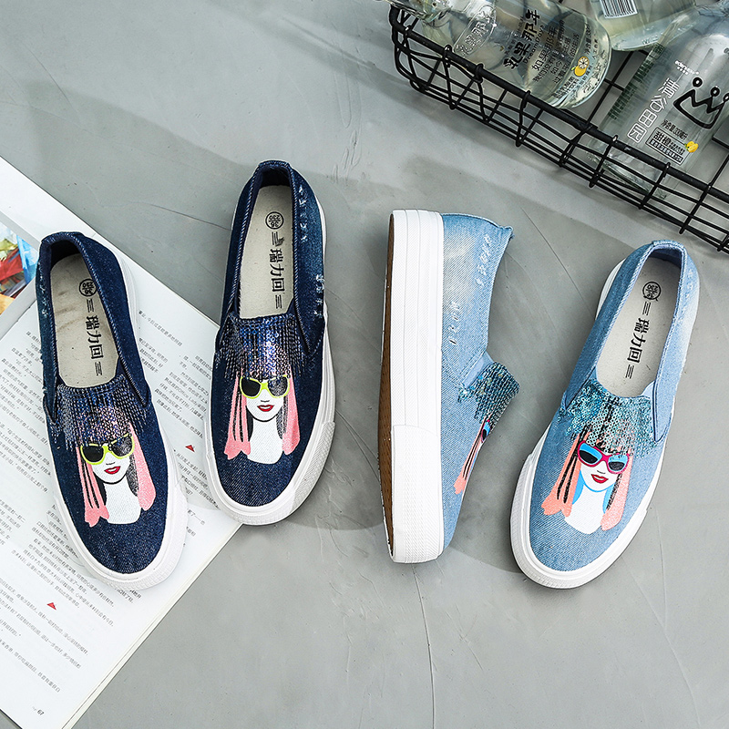 Primavera Planos Flatsc2 Mujer Mocasines Otoño 2019 Bling De Blue On Zapatos Las light Mujeres Dark Moda Flatsc2 Casuales Slip Plataformas xFTp6EF