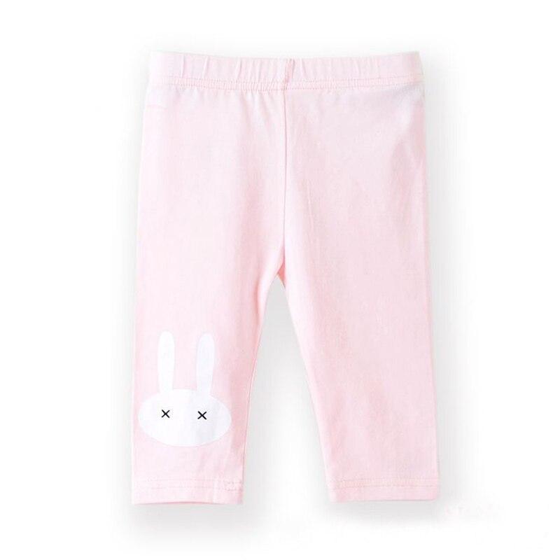 3-10years Rabbit Footless Girls Knee Length Pants Kid Five Pants Trousers Cropped Children Modal Cotton Leggings Summer Bottoms 3