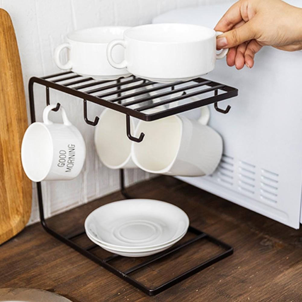 Kitchen Suppliers Multi-Functional Cup Holder Innovative Iron Supporter Drying Rack Water Bottle Mug Holder Cup Rack Hanger