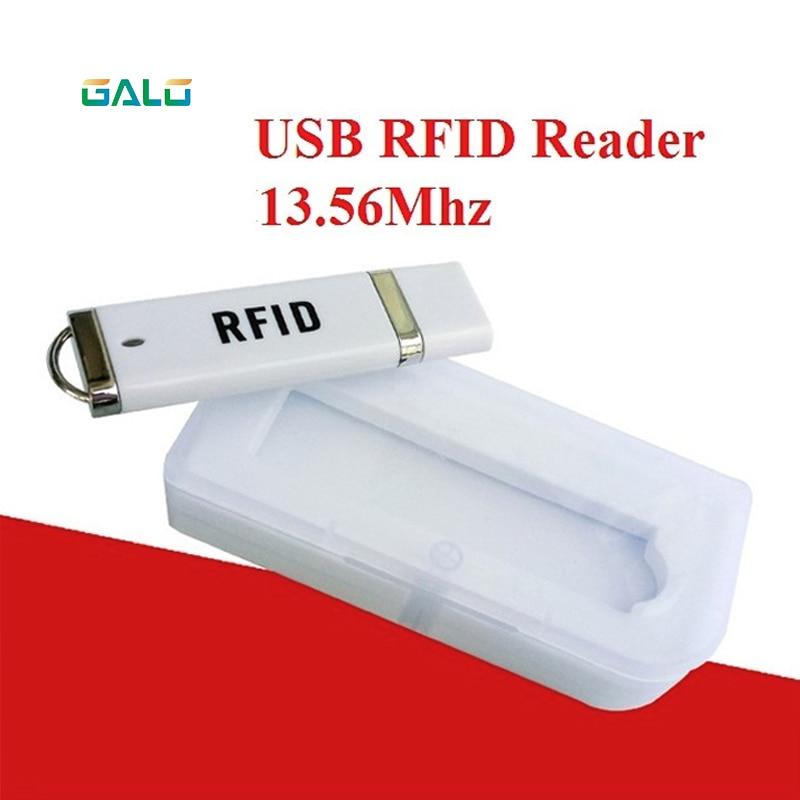 IC 13.56mhz S50 Portalbe Cell Phone RFID USB Mini Reader