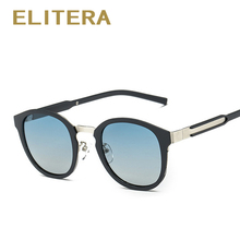 ELITERA  Brand Fashion Oval Polarized Sunglasses Summer Sun Glasses Vintage Goggles Eyeglasses Retro Brand Designer Black Frame