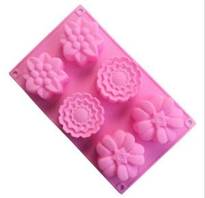 Silica gel 6 link 3 groups of flower shaped cake in the moon cake