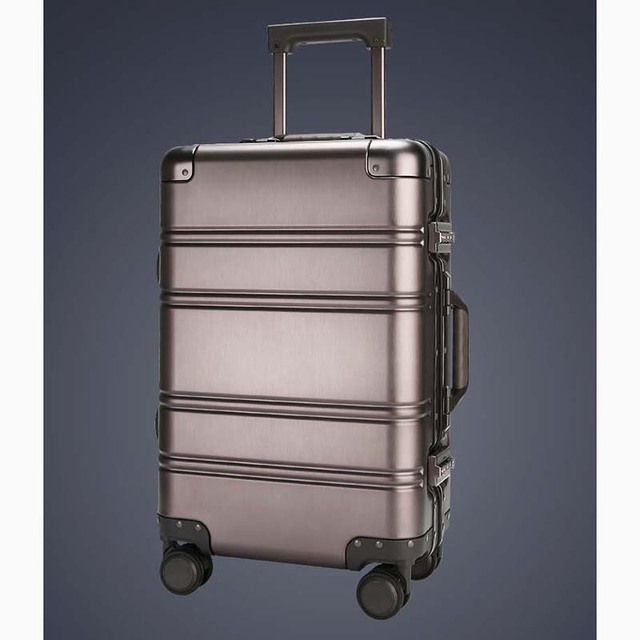 b3291a78fa7 LeTrend 100% Aluminum-magnesium alloy Rolling Luggage Spinner Men Business  Suitcase Wheels 20 inch