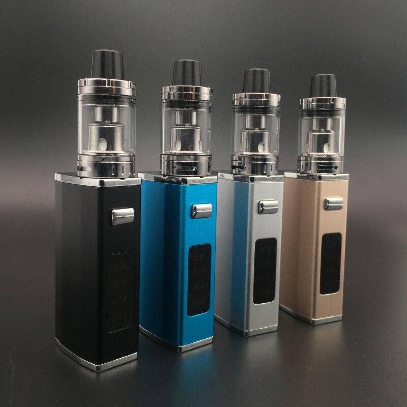 E-XY MK60 Electronic Cigarette Kit LED Screen 30w-60W 1500mAh Box Mod Vapor Vaporizer