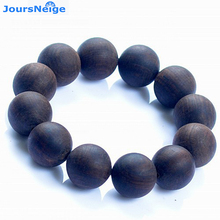 Genuine Incense Bracelets Old material black sand sink Buddha Beads Bracelet For Men Women Water sinks wood Hand string Jewelry