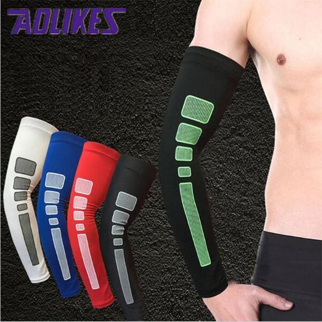 Elbow Arm Warmers Pad Cycling Antiskid Silicone Arm Sleeves Basketball Armband Sport Elbow Wrist Anti-UV Cuff Running Arm Warm