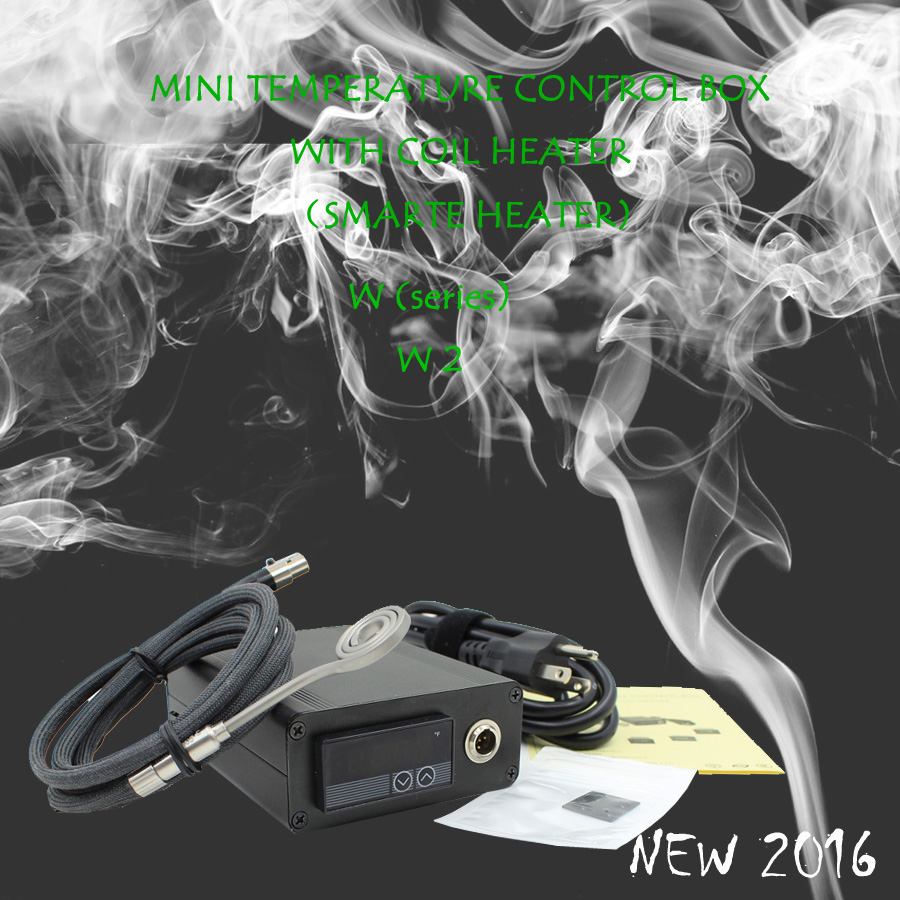 NEW 2016 W2 FLAT COIL MINI TEMPERATURE CONTROL BOX nail coil heater titanium nail electronic