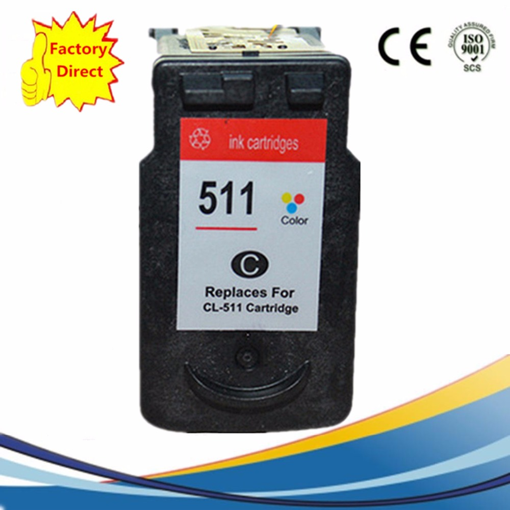 CL-511 CL-511XL CL511 CL511XL CL 511XL Ink Cartridges Remanufactured MP 282 330 <font><b>480</b></font> 490 492 495 499 MX <font><b>320</b></font> 330 340 350 image