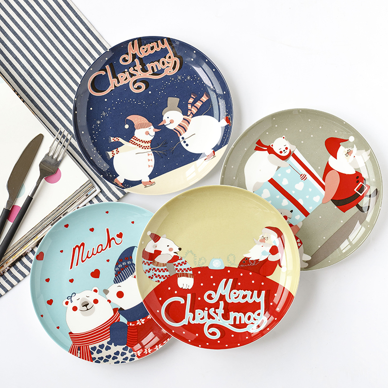 Christmas Eve of Mr. Polar Bear Bone china dish Western dishes Dessert plate Home dish dish Christmas present-in Dishes u0026 Plates from Home u0026 Garden on ...  sc 1 st  AliExpress.com & Christmas Eve of Mr. Polar Bear Bone china dish Western dishes ...