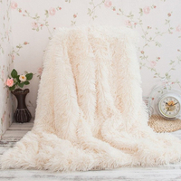 Super Soft Long Shaggy Fuzzy Fur Faux Fur Warm Elegant Cozy With Fluffy Sherpa Throw Blanket