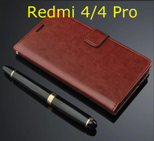 For Xiaomi Redmi 4 Pro Case Flip Wallet Genuine Leather Cover For Xiaomi Redmi 4 With Stand Function Snapdragon 430 & 625
