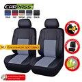 (Car-Pass) Universal de LA PU Leather Car Seat Covers Asiento Delantero cubre las Cubiertas Del Coche coche cubre Ajuste para Toyota Hyundai Nissan Mazada