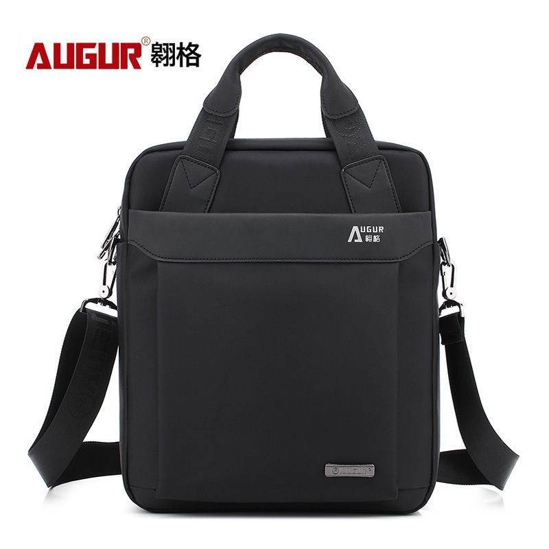 Black Portable Oxford Upright Tablet PC Briefcase Work Men's Single Shoulder Satchel Business Men Negotiation The Workplace Wear
