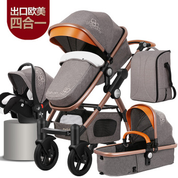 New Arrival Brand Baby Strollers 4 in 1 Baby Carriage Super Light Baby Strollers EU Standard 3 in 1 Baby Strollers