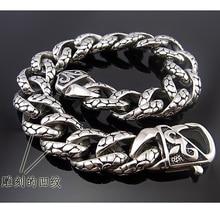 22 см* 13 мм ювелирный мужской браслет, кубинские панцирные цепи, серебряный 316L браслет из нержавеющей стали для браслета, мужские аксессуары