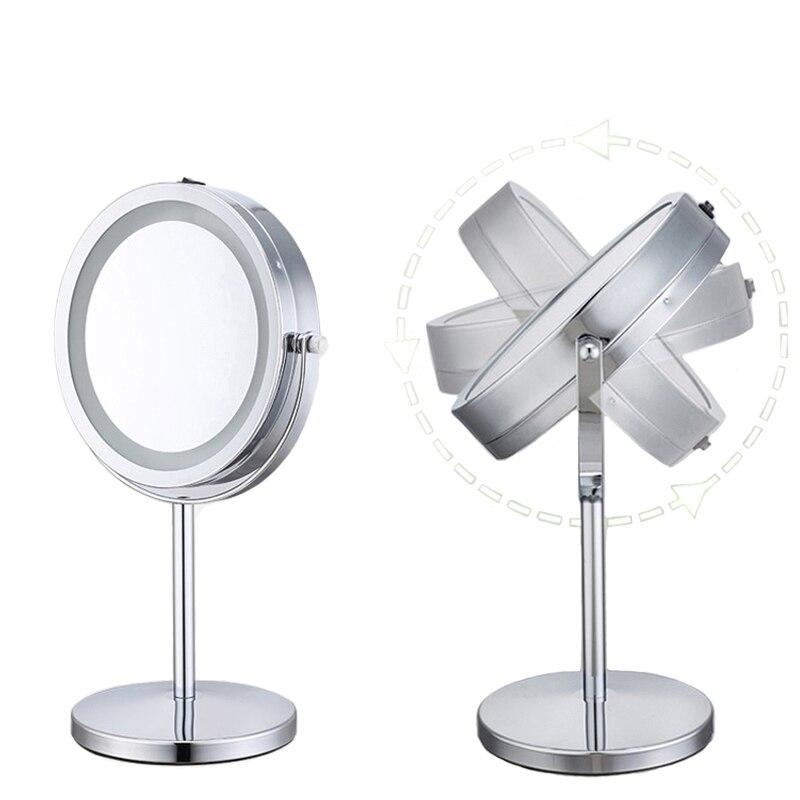 Einstellbare 18 Led Licht Make-up Spiegel Mit 10x Vergrößerung Sucker Spiegel Schreibtisch Stehen Hängen Vergrößerungs Eitelkeit Kosmetik Spiegel Haut Pflege Werkzeuge