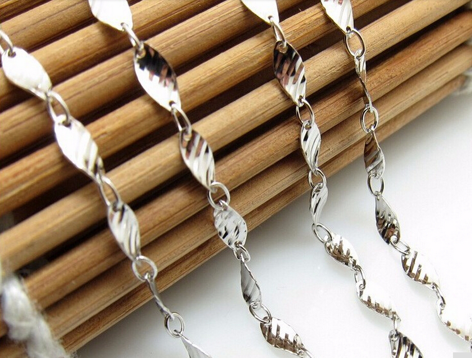 Hot sale fashion  Italy design Pure 925 Sterling Silver Necklace chain S925