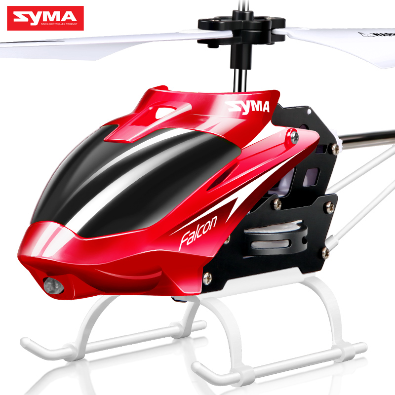 Syma 2 Channel Indoor Small Size RC Helicopter with Gyro Resistant Drone Class Kid Toys for
