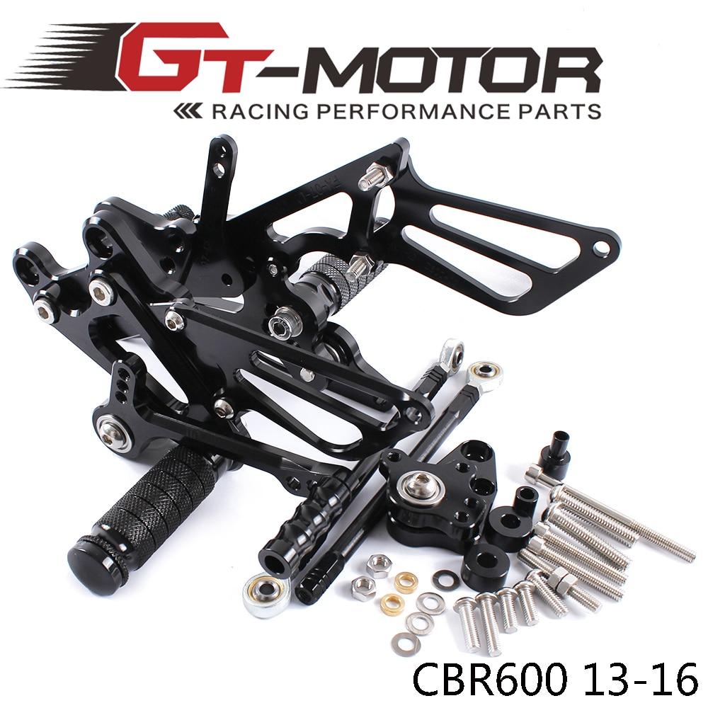 GT Motor Full CNC aluminum Motorcycle Rearsets Rear Set For HONDA CBR600RR NON ABS 2013 2016