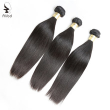 Alibd Malaysian Virgin Hair Straight Human Hair 3 Bundles Deals Raw Virgin Cuticle Aligned Hair Can Dyed and Bleached Weaves(China)