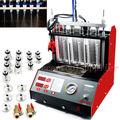 CT200 gasonline 6/4 cilindro de La Motocicleta Del Coche Auto Probador de Inyector De Limpieza Por Ultrasonidos máquina 220/110 V Mejor que Lanzamiento CNC602A